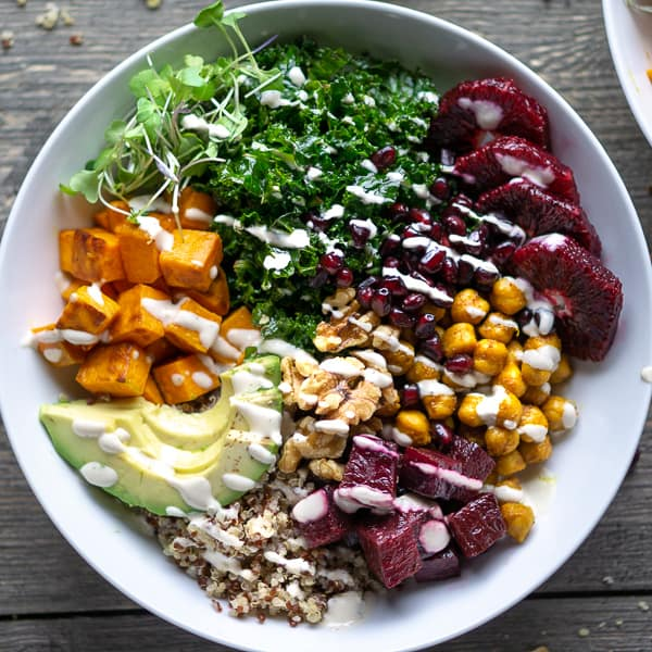 Buddha bowl lunch recipe